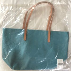 Handbags - Large Marine Blue Vegan Leather Bag, NWT!